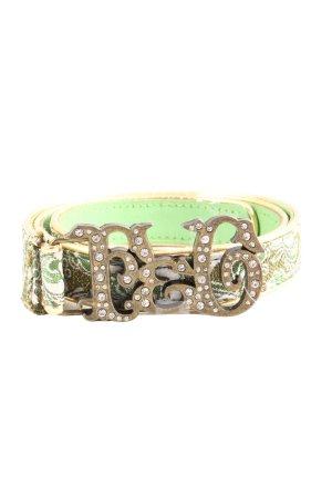 Lederimitatgürtel grün-goldfarben Mustermix Casual-Look