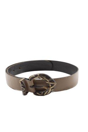Cinturón de cuero de imitación marrón look casual