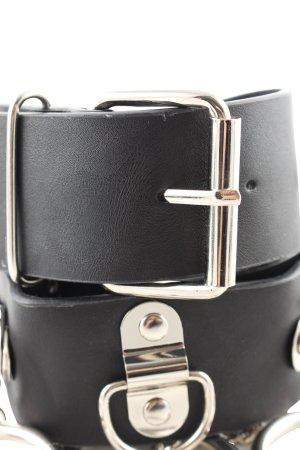 Lederimitatgürtel schwarz extravaganter Stil