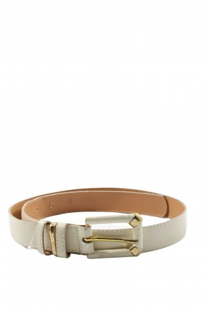 Faux Leather Belt natural white business style