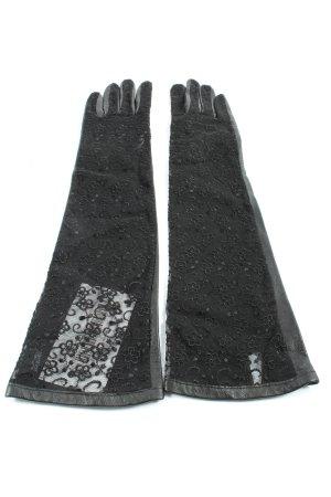 warmei Rękawiczki z imitacji skóry czarny-jasnoszary W stylu casual