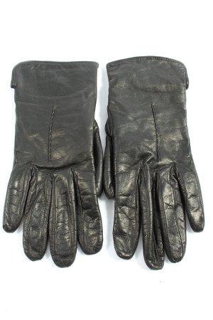 Rękawiczki z imitacji skóry czarny W stylu casual
