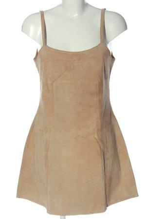 Annie LeBlanc Skórzana sukienka brązowy W stylu casual