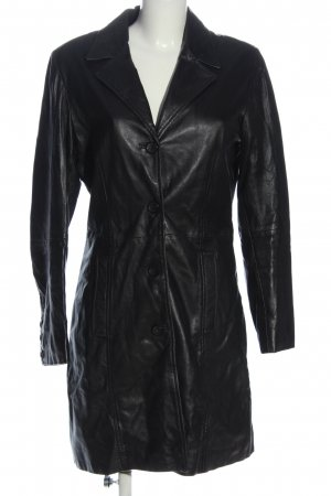 Montgomery Leather Coat black casual look