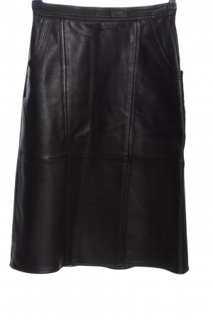 Leather Skirt black casual look