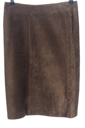 Jupe en cuir bronze style décontracté