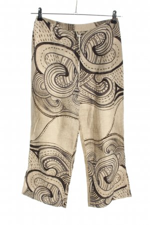 terra cotta Linen Pants natural white-black abstract pattern casual look