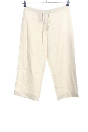 Pantalon en lin blanc style décontracté