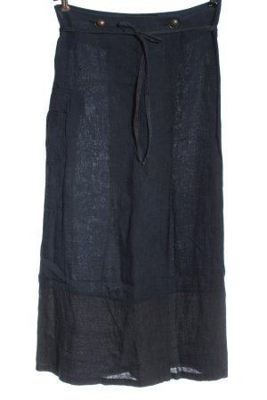 MANDA WILDE Lniana spódnica niebieski W stylu casual