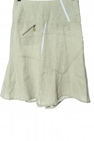 Carla Linen Skirt khaki casual look