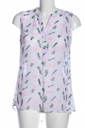 Long-Bluse Allover-Druck Casual-Look