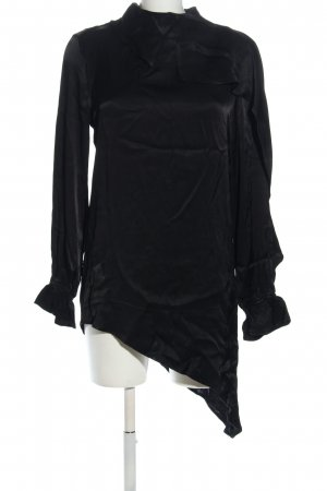 Nu Denmark Long-Bluse schwarz Casual-Look