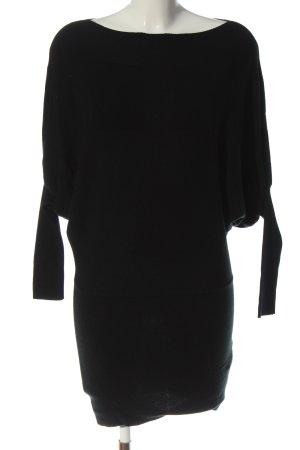 M & V Vestido de lana negro look casual
