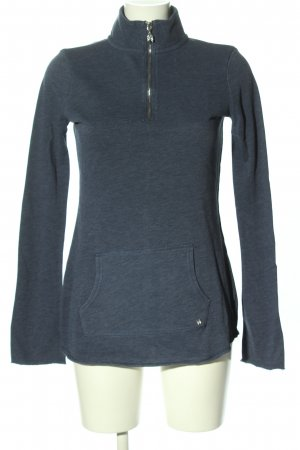 Longshirt blau meliert Casual-Look