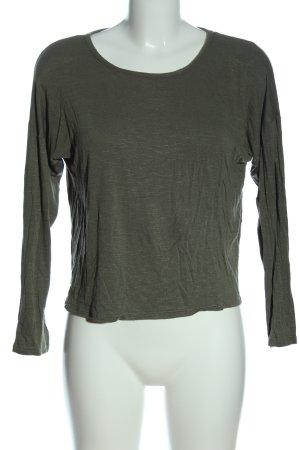 Olivia Rae Longsleeve khaki flecked casual look