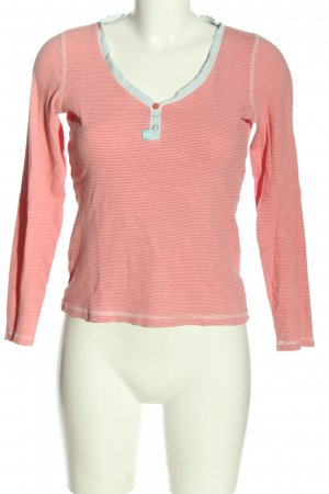 Joules Manica lunga rosso-bianco motivo a righe stile casual