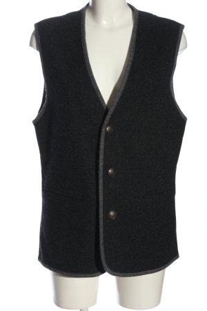 Gilet long tricoté noir style décontracté