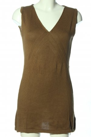 Long Knitted Vest brown casual look