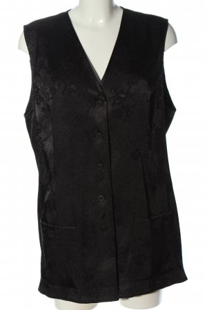 Long Knitted Vest black casual look
