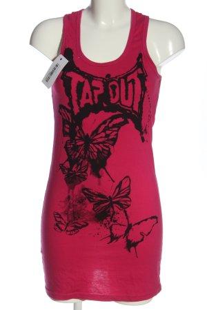 Tapout Top largo rosa-negro estampado temático elegante