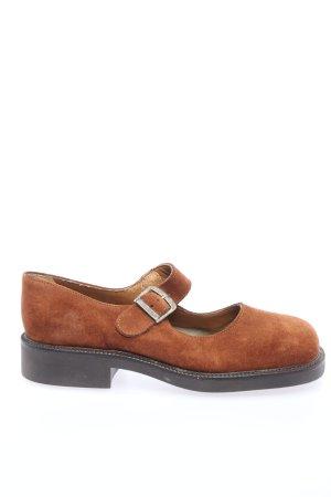 Scarpa Mary Jane marrone stile casual