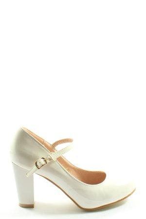 Escarpins Mary Jane blanc style décontracté