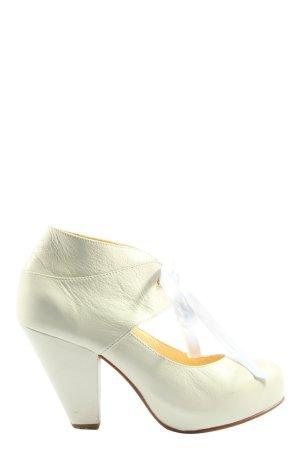 nine to five Tacones Mary Jane blanco estilo extravagante