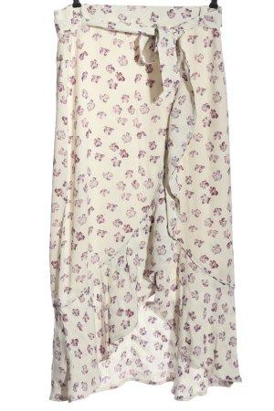 Kopertowa spódnica biały-fiolet Na całej powierzchni W stylu casual