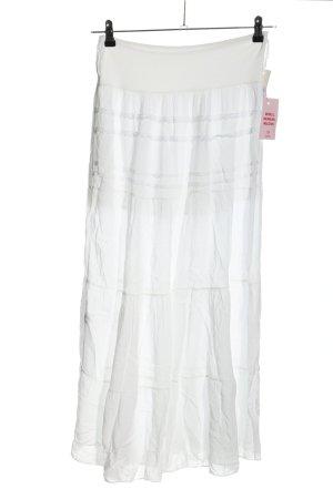Jupe longue blanc style décontracté