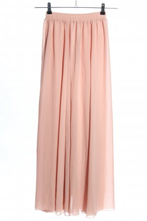 Lace Girl Falda larga rosa elegante