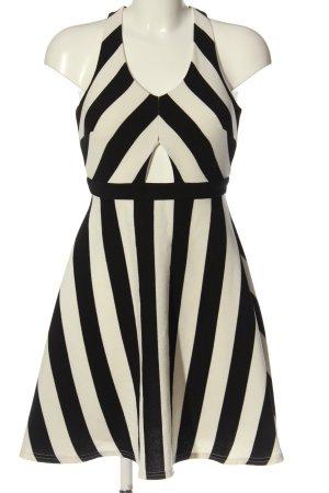 Moein Abito cut out nero-bianco sporco motivo a righe elegante