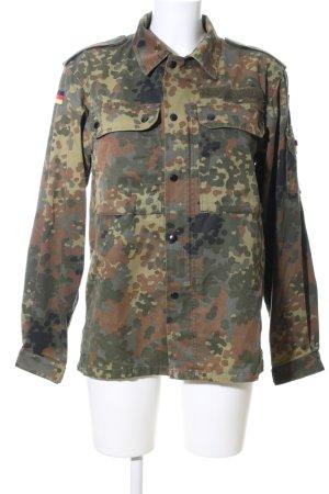 Giacca militare cachi-marrone Motivo mimetico stile casual
