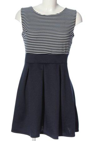 Minikleid blau-weiß Streifenmuster Elegant