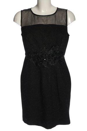 luxlead Minikleid schwarz Allover-Druck Casual-Look
