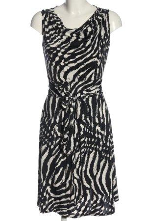 karima Blusenkleid schwarz-weiß Allover-Druck Casual-Look