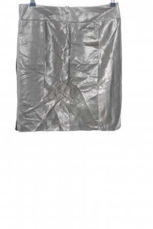 Art To Be Mini-jupe noir-argenté motif rayé pailleté