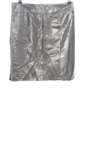 Art To Be Miniskirt black-silver-colored striped pattern glittery