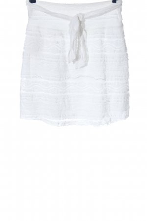 Blanc du Nil Mini rok wit casual uitstraling