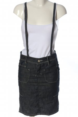 zuk Pinafore Overall Skirt light grey weave pattern casual look
