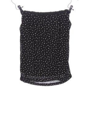Minirock schwarz-weiß Punktemuster Casual-Look
