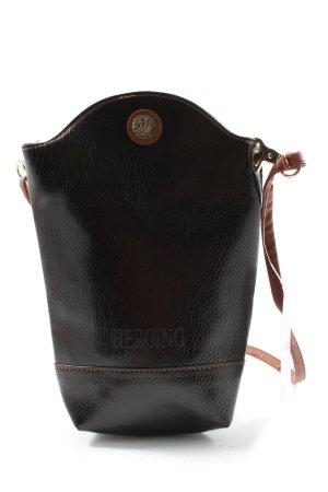 Heroing Minibolso negro-marrón estampado temático look casual