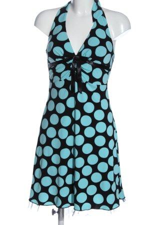 Halter Dress blue-black allover print casual look