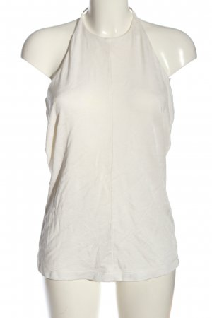 Alexander Wang Top estilo halter blanco look casual