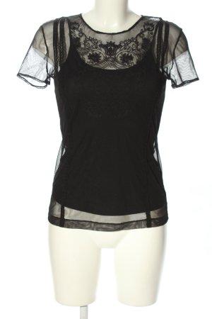 Netshirt zwart casual uitstraling