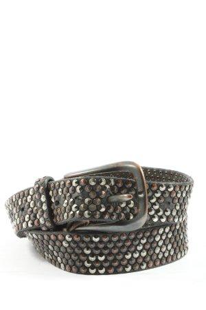 B Belt Pasek z ćwiekami jasnoszary-brązowy W stylu casual