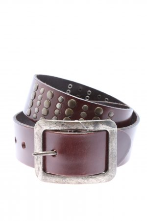 Studded riem bruin-brons casual uitstraling