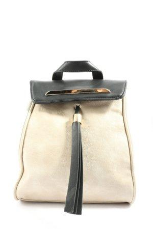 Bessie London Sac à dos pour ordinateur portable blanc cassé-noir