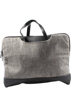 Borsa pc grigio chiaro-nero stile casual