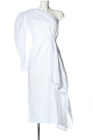 16ARLINGTON Sukienka na jedno ramię biały Elegancki