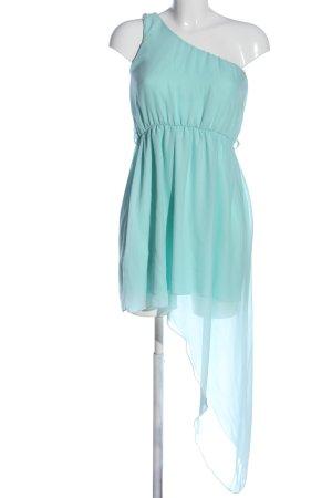 Robe asymétrique bleu style décontracté